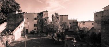 Piazza San Costanzo, Anfiteatro San Costanzo, Sanremo, Pigna